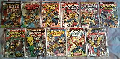 LUKE CAGE Hero For Hire/Power Man - lot of 11 comics (issue #'s in description)