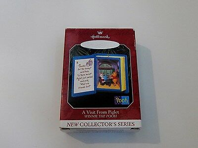 Hallmark Ornament 1998 Winnie the Pooh #1 - A Visit From Piglet Book Mint Box