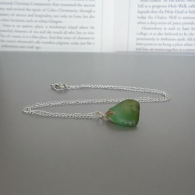 Chrysoprase Necklace - on 18 inch chain - Crystal of Joy and Healing - Gemstone