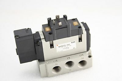 NEW SMC Valve & Base NVFS3110-5DZ-03N, Single Solenoid, 24 VDC, 3/8 NPT
