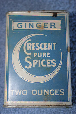 Crescent Spice Tin Crescent Pure Spices Ginger metal tin