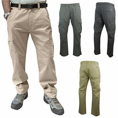 Field and Stream Men's Hiking Cargo Pants; Tear-Resistant With Cargo Pockets