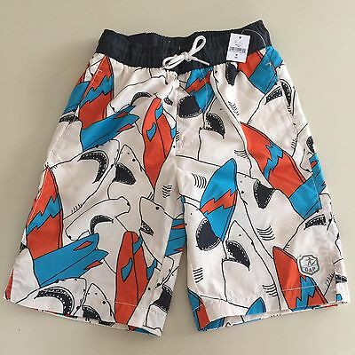 GAP Boys AWESOME SHARK  Swim Shorts. Size 8 years Regular. New with Tags!! WOW!!