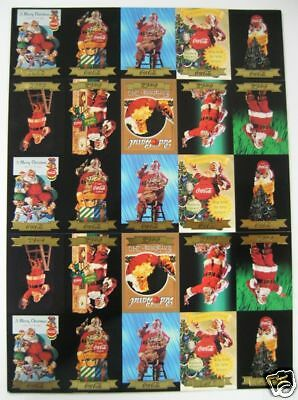 Coca Cola Santa Series 3 Gold Foil Uncut Sheet - 25 Cards (2.5 Sets) - 1994 NEW