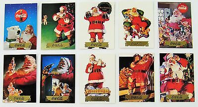 Coca Cola Santa Series 2 Gold Foil 10 Card Subset - 1994 - NEW