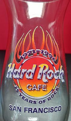 Hard Rock Cafe San Francisco 25 Years of Rock Anniversary Hurricane Glass Music