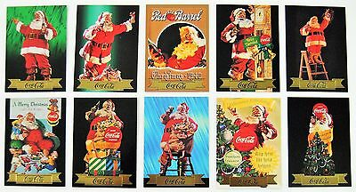 Coca Cola Santa Series 3 Gold Foil 10 Card Subset - 1994 - NEW