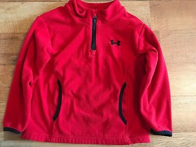 Boy's Under Armour Red 2T Fleece Pullover