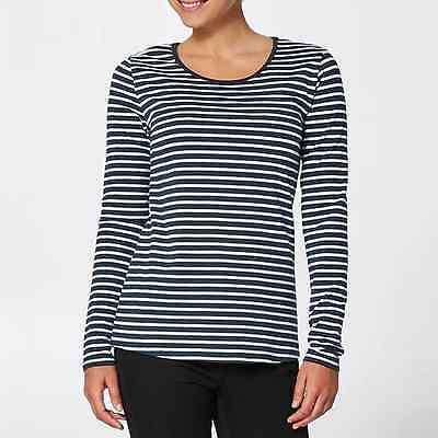 New Womens Striped Black and White Long Sleeved T-Shirt Classic Casual Fashion