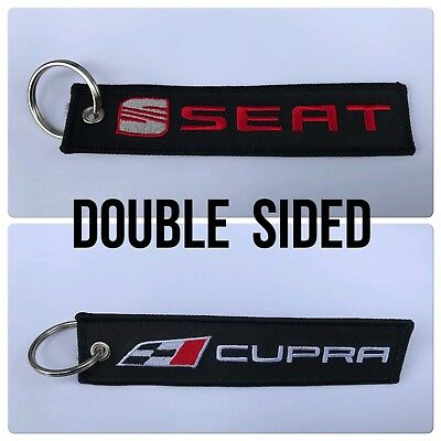 Car Embroidered Key Ring Keyring Keyfob Split Gift Logo Seat Leon Cupra TSI FSI