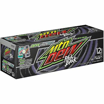 Mountain Dew Pitch Black - AMERICAN IMPORT SODA 12 Pack (12x 355ml cans)