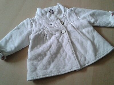 baby girls ted baker white jacket 6-9 months