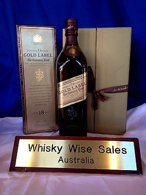Johnnie Walker Gold Label Centenary Edition Boxed with Two Glasses also Boxed.