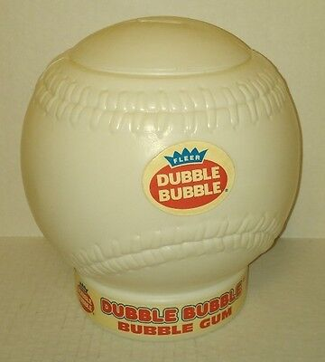 vtg Fleer Dubble Bubble Gum BASEBALL BANK store counter display w/ top - NICE