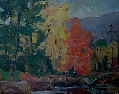Landscape Painting, oil on panel, well listed contemporary New York artist !
