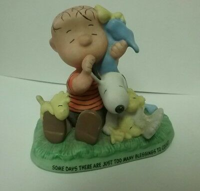 "Hallmark 2001 Peanuts Gallery Snoopy Linus ""Special Blessings"" Figurine"