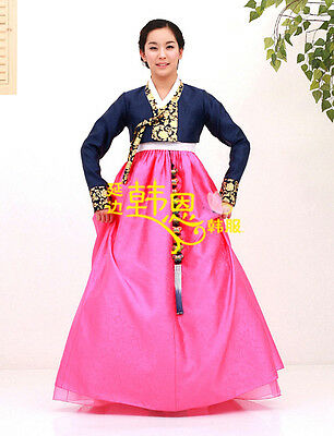 Hanbok Dress Custom Made Korean Traditional Woman Hanbok  Bride Silk Dress