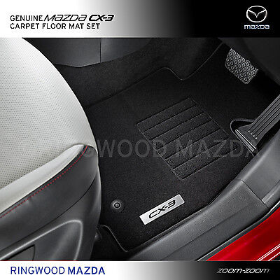 New Genuine Mazda CX-3 DK Carpet Floor Mats Mat Set Accessory Part DK11ACFM