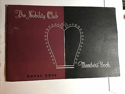1947 THE NOBILITY CLUB ROYAL ROSE Silverware Booklet MEMBERS AND PLACE SETTING