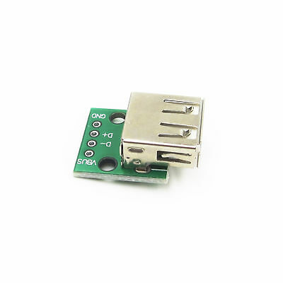 3x USB A Female Port Connector Breakout Board 5V Power 2.54mm Header for Arduino
