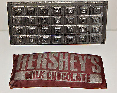 Vintage Hershey Chocolate Bar Letter Name Tin Mold