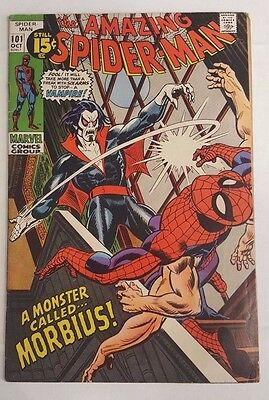 Amazing Spider-Man #101 First Morbius App Marvel FREE SHIPPING No Reserve