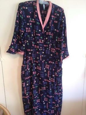 Fun Whimsical Print Rayon 1940's Dress Large Size Good Condition