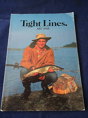 Vintage Abu Tight Lines Fishing Catalogue For 1985