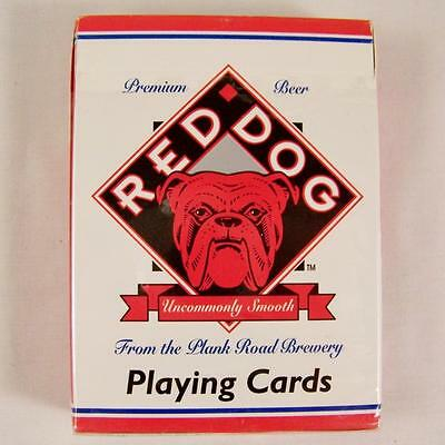 Red Dog Beer Playing Cards Plank Road Brewery Vintage 1995 Hoyle Poker Deck USA