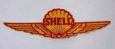 Vintage SHELL AVIATION Prdts. AEROSHELL Embroidered Sew On Uniform-Jacket Patch