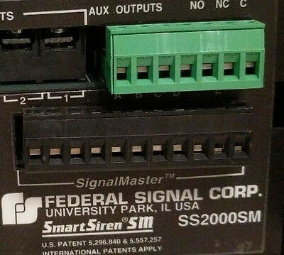 1 Set Federal Signal Smartsiren  11 & 7 Position  Plug Ss2000Sm