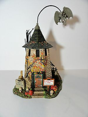 Dept 56 Halloween Haunted Tower Tours Animated