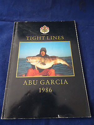 Vintage Abu Tight Lines Fishing Catalogue For 1986