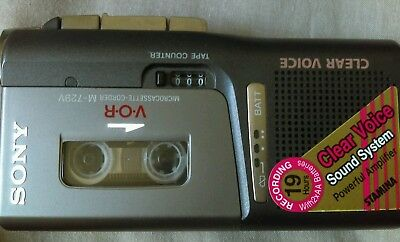 Sony DICTAPHONE M-729v VOR voice Microcassette - LIGHTS UP DOESNT SEEM TO PLAY