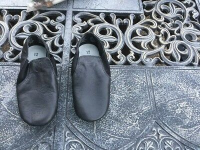 Girls Size 12 Black Jazz Shoes Leather