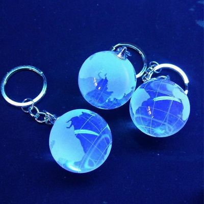 Pendants Mini  Planet Dome Luminescent Crystal Glass Key Chain Globe World