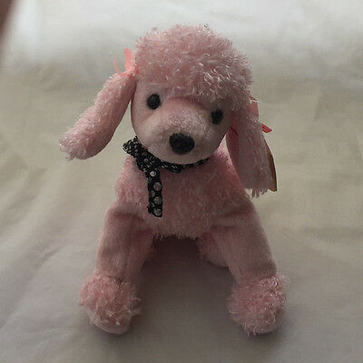 Ty Beanie Baby ~ BRIGITTE the Pink Poodle Dog ~ MINT with MINT TAGS ~ RETIRED