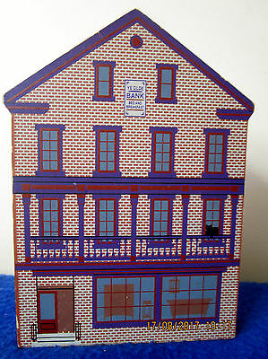 1997 Cat'S Meow Shelf Sitter 1803 The Bank Of Pennsylvania, Lancaster, Pa, Now Y