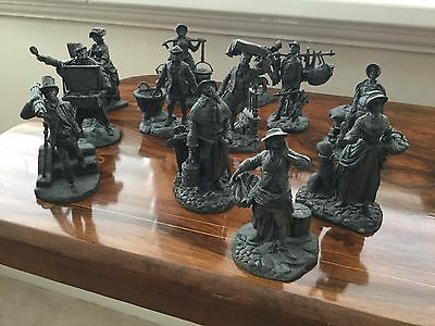PEWTER FIGURINES-COMPLETE SET-'CRIES OF OLDE LONDON'-Franklin Mint