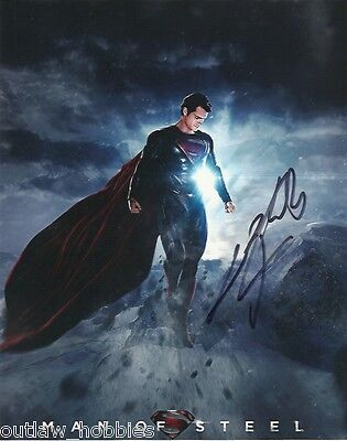 Man of Steel Henry Cavill Autographed Signed 8x10 Photo COA