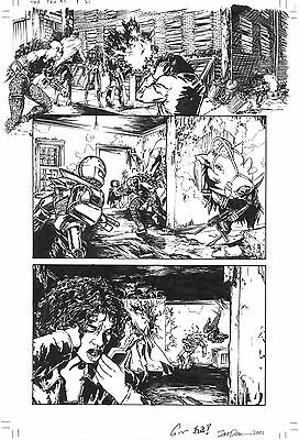Gene Ha, Top Ten #1, pg 21 Original Art! Signed by Gene Ha & Zander Cannon!