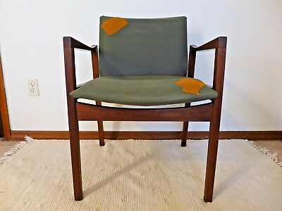 walter nugent designs walnut arm chair c 15 lounge office chair gray