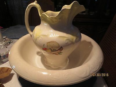 Vintage Wash Bowl and Pitcher