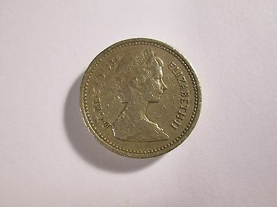 GENUINE +VINTAGE=1984 United Kingdom One Pound Coin>>L@@K
