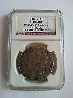 US 1889 CC silver coin of $1 Morgan  NGC VF DETAILS