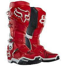 Fox Instinct Boots Red/White NEW Size 10 from Westside Motorcycles