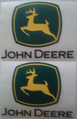 "Set of 4 JOHN DEERE Decals  size 3.0"" X 2.75"" Made in USA"