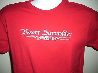 Never Surrender, Unisex, Red Short-Sleeve T-Shirt, Ns-Logo, Sz. Large, New!!