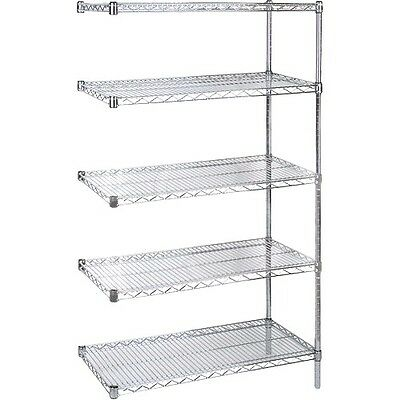 "Add On 5 Shelves Chromate Wire Shelving Storage Shelving 30"" x 14"" x 74"""