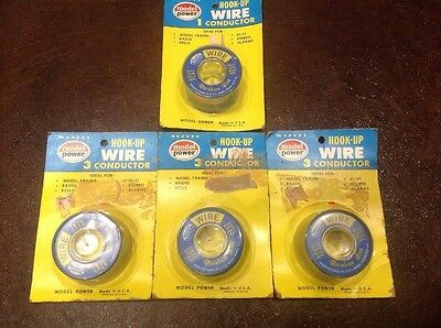 Vintage Model Power 3 Conductor And 1 Conductor Hook Up Wire